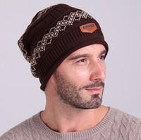 Prezzi Wool hat-2016 Unisex Donna Nuovo Mens campeggio cappello di inverno Beanie rigonfio calda lana il trasporto Cap sci libero caldo