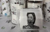 Wholesale Hillary Clinton Donald Trump Barack Obama Toilet Paper Novelty Funny Toilet Paper Gag Gift free shiping DHL