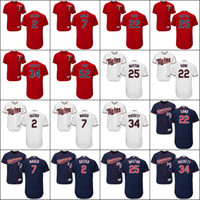 Wholesale Men s Minnesota Twins Brian Dozier Joe Mauer Miguel Sano Byron Buxton Kirby Puckett Byung Ho Park Baseball Jerseys stitch