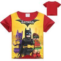 cotton Novelty Yes 3-10 Years Kids Clothes Baby Boys T-shirt Batmat Movie Cartoon T-shirt Legoe Ninja Ninjago Tops Superman Red Bule Boys T shirts