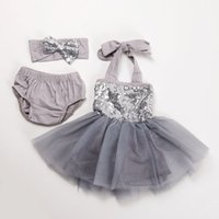 Wholesale HOT SELLING latest gowns design dress set sexy necked girls picture sequin dress set infant girls