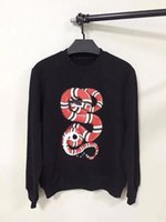 Wholesale 2017 New Fashion Brand Casual Sweater snake print men women sweaters