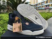 Calidad superior Air AA Jordan 4 4s Retro IV Premium Obsidian Pinnacle 819139-402 con caja original