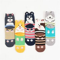 Wholesale New D Printed Socks With Funny Dog Animal Cartoon Sokken Women Sock Unisex Calcetas Mujer Xmas Gift Chaussette Femme