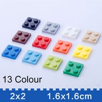 base plates - Building Bricks Mosaic Set Base Plates x2 Pack of build block Colors Tight Fit LEGOCompatible Zorn toys