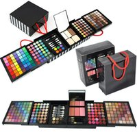 Boîte à cosmétiques réfléchie Prix-177 couleurs Pro Eyeshadow Palette Maquillage en poudre Cosmetic Brush Kit Box avec miroir Femme Make Up Tools Bronzers Eye Shadow BFFA294