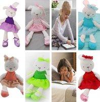 achat en gros de plush rabbit toy-42cm Mamas Papas Bunny Peluche Toy Lapin Stuffed Animal Bébé Enfants Cadeau Animaux Poupée Peluche Animaux Confort de sommeil jouet KKA1241