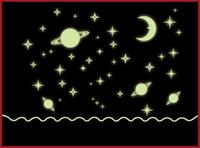 Wholesale Night Luminous Little Universe Microcosm Wall Stickers Wallpaper Home Decor Wall Art Stickers Kids Window Sticker Funny