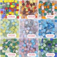 art glass mosaic tile - 10 X mm Square Crystal Mosaic Tile mix series DIY Mosaic Art Supplier Home garden Glass stone glass beads
