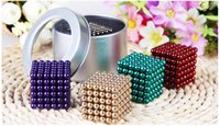 Wholesale 5 mm set Buckyballs Jigsaw Puzzle Magic Magnetic Ball round glaze Christmas toys for children multi color