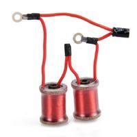 10 envolturas bobinas piezas accesorios para el tatuaje de la ametralladora de cobre de larga duración de pequeño tamaño de alambre duradero rojo