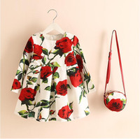Wholesale 1 FREE spring and autumn and the wind girl dress skirt backing printing