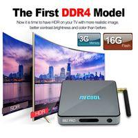 Mecool BB2 Pro Amlogic S912 TV Box 3GB DDR4 16GB EMMC Flash 4K UHD Vidéo 3D en ligne Movie Stream Boîtes Android Octa core