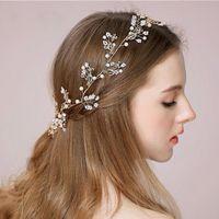 Headbands beaded crystal heart - Fashion New Crystal Handmade Bridal Headpieces Cheap In Stock Rhinestones Beaded Wedding Hair Decorations Crystal Accessories CPA508