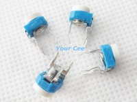 Wholesale Horizontal Type K Resistor Blue White Adjustable Resistor