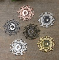 Wholesale 28mm Fit mm antique bronze silver rose gold gun black Copper oval metal stamping pendant blanks charm base cameo cabochon setting bezel