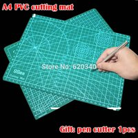 bamboo cutting tools - PVC cutting mat A4 durable self healing cut pad patchwork tools handmade Diy accessory cutting plate Craft Dark green cm