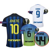 Tailandia Calidad 16-17 Inter Milan Europa League Camisetas de fútbol 2016 JOVETIC casa lejos de blanco ICARDI PALACIO KONDOGBIA camisas de fútbol