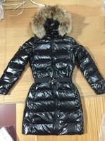 Vraies femmes Prix-M22 femmes parkas pour veste d'hiver Veste d'hiver Long Ladies anorak femmes manteaux avec véritable fourrure capuche parka femmes vestes
