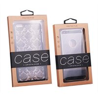 Wholesale Universal Retail Packaging Box with Inner Insert for iPhone s plus Craft Party Box Variety of Colors Kraft Paper