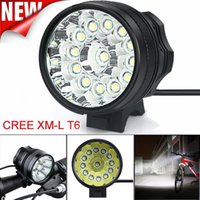 Head Lights bicycle packing - 12T6 in Headlamp Lumens x XM L T6 LED Bicycle Light Cycling Waterproof Bright Bike Head Lamp Battery Pack Charger