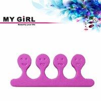 Wholesale 1 Pair Herramientas For Foot Fingers Foam Nail Art Tools Separator De Dedos Divider Toes Nails Sponge Finger Toe