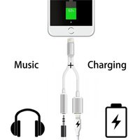 adapter convertor - Charging Music Audio Adapter for Iphone Plus mm Headphone Convertor Adapter Charging cable