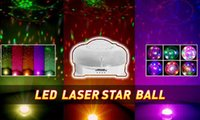 Wholesale Led laser crystal magic ball lamp KTV room pattern effect star lamp bar disco wedding Christmas