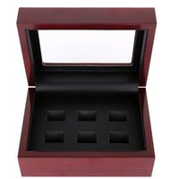 Wholesale High Quality Hollow World Championship Ring Set Solid Wooden Display Box More than DHL