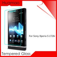 al por mayor cubiertas xperia lt26i-Versión Premium HD Protector de pantalla de vidrio templado para Sony Xperia S Lt26i Protección de la cubierta Etiqueta de la película protectora en el teléfono