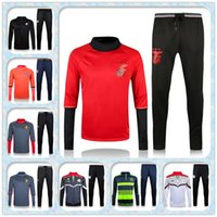 arsenal training kit - 2016 Benfica red Arsenals Paris tracksuits Belgium Messi Top quality long sleeve tracksuit training jackets kits