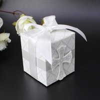 applied earth - 100 set white cross joyful box of ribbon bow Apply various parties reply ou candy paper