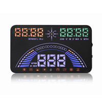 Wholesale 5 inch S7 Car Styling OBD GPS HUD Head up Display Auto Interface Engine Fault Alarm Speedometer Alarm
