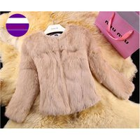 Wholesale 2017 High quality Rabbit Fur Coat multi colors Real Natural Rabbit Fur Jacket for women fashion brand fur coat colors