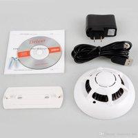 Wholesale Smoke Detector Video Recorder - Wireless Smoke Detector Security WiFi IP Camera Cam DVR Video Recorder DV Free shipping VC405 Hot Sale