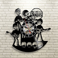 antique vinyl records - New Arrival Vinyl Record Wall Clock The Beatles Music Nursery Art CD Clock Watch Creative Duvar Saati Horloge Home Decorative
