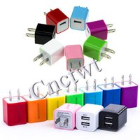 ac power point - Dual USB Port Green Point charger charger universal USB wall Charging Charger US EU Plug A AC Power Adapter Wall Charger