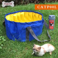 Wholesale Doglemi Foldable Cat Pool Bathing Bathtub for small dogs two colors available