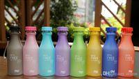 Wholesale New Colorful Seal Leak Proof Soft Drink Bottle Portable Unbreakable Plastic Bottles