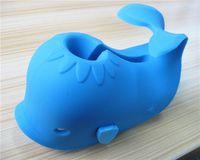 bathtub faucet covers - High quality cute whale shape soft kids bathtub faucet cover with bath toy