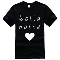 bella printing - Bella Notte Printed Tee Shirt Unisex Fashion Women Men Short Sleeve Cool Funny Shirt More Size And Colors