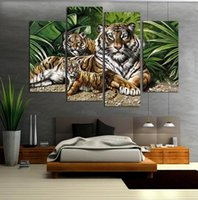 Cheap More Panel Wall art picture Best Oil Painting Impressionist Animal Painting