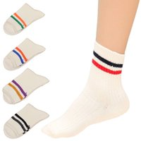 Wholesale Winter Warm Thick Thermal Floor Socks Women Striped Knitting Wool Short Sock