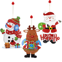 Wholesale Santa Claus Christmas Decoration Snowman Elk Wall Stickers Christmas Decorations Pendants Stickers Strap Festival Window Stickers