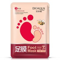Wholesale 2pcs Hot Herbal Exfoliating Foot Mask Peeling Care Renewal Mask Foot Socks Foot Skin Care Smooth Whitening Remove Dead Skin