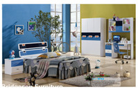 Wholesale MDF Teenage Princess Boy Child ChildrenKids Bedroom Furniture Set with Door Wardrobe Nightstand Bookcase