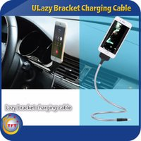 android pack - Lazy Bracket Charging Cable Phone Holder Flexible Stand Cable for Samsung LG Sony Android USB Cable for all Android Phone With Packing