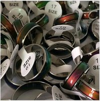 Wholesale 100pcs Mix Fashion Personality Temperature change color couple rings Changing colour Ring band Cheap Price