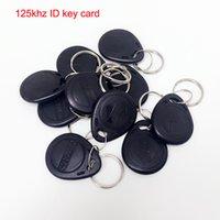 Precio de Token de tarjeta de identificación-Venta al por mayor-10 Pcs / lote TK4100 EM ID keyfobs RFID etiqueta clave del anillo tarjeta 125KHZ proximidad Token acceso negro tarjeta