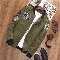 air force uniforms women - Men s women Bomber Flight Pilot Jacket Coat Slim La Nasa Marine Flight Military Jacket Air Force Embroidery Baseball Uniform